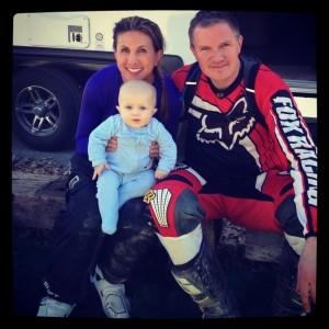 Motor bikes and baby
